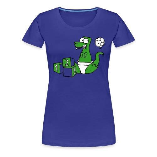 Baby T-Rex Dino mit Ball und Würfel - Frauen Premium T-Shirt