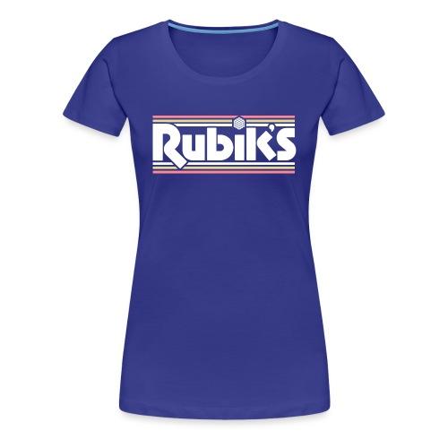 Rubik's Cube Retro Logo - Women's Premium T-Shirt