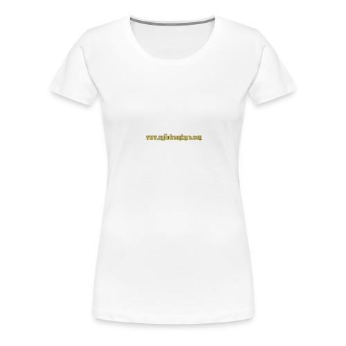 shirt intellect white - Women's Premium T-Shirt