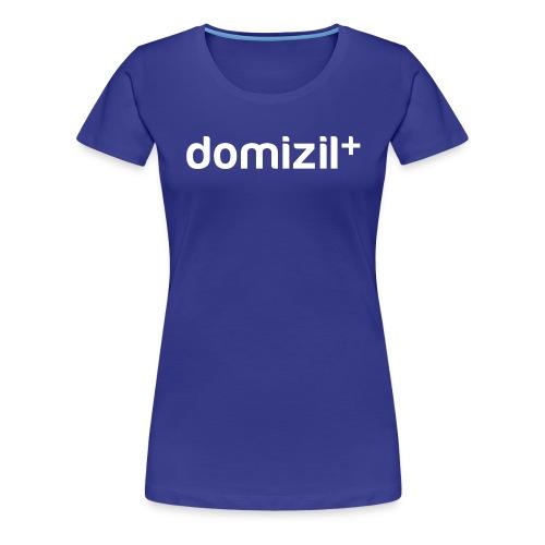 domizilplus_Logo_komplett - Frauen Premium T-Shirt