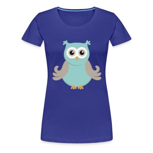 Eule_tuerkis - Frauen Premium T-Shirt