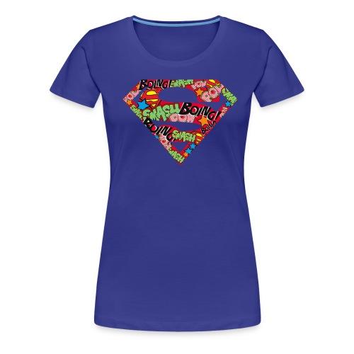 DC Comics Superman Logo Mit Lautmalerei - Frauen Premium T-Shirt