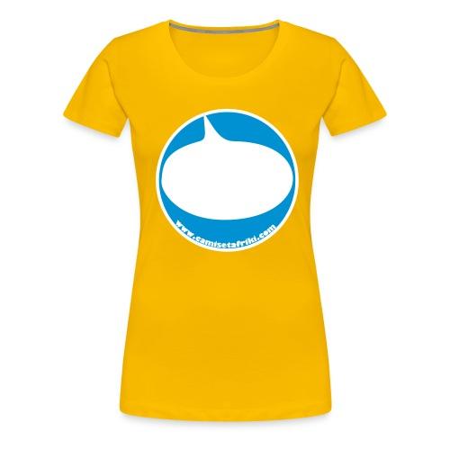 twitter chapa - Camiseta premium mujer