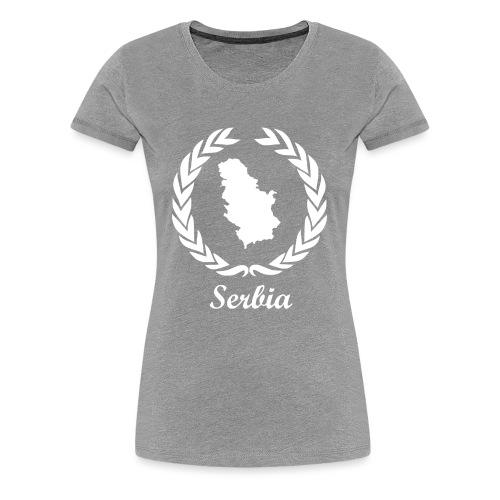 Connect ExYu Serbia White Edition - Frauen Premium T-Shirt