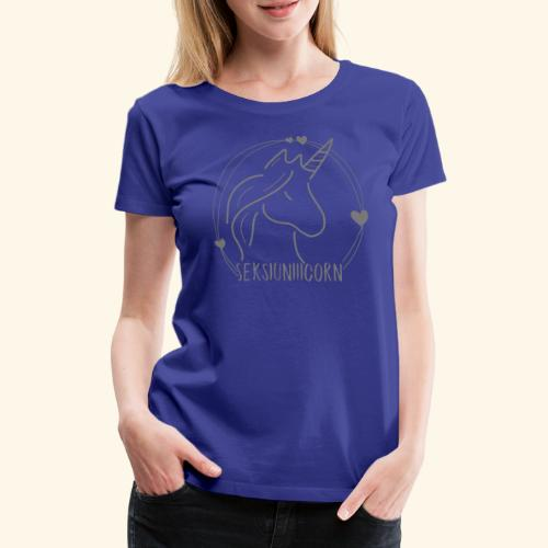 Seksiuniiicorn GRAU - Frauen Premium T-Shirt