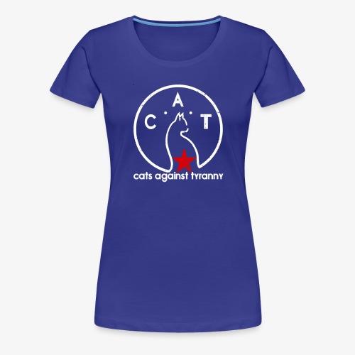 Political Protest Cat T-Shirt - Women's Premium T-Shirt