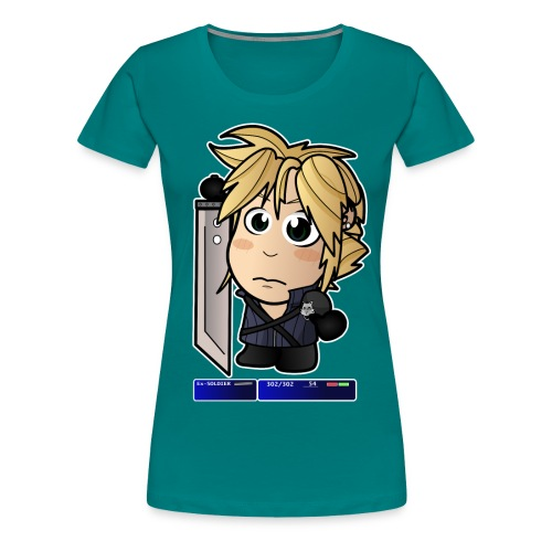 Chibi Cloud - FF7 - Women's Premium T-Shirt