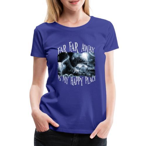 My Happy Place - Black & White - Vrouwen Premium T-shirt