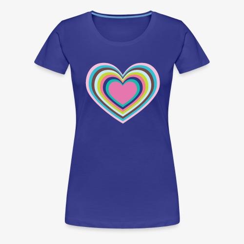 Psychedelic Heart - Women's Premium T-Shirt