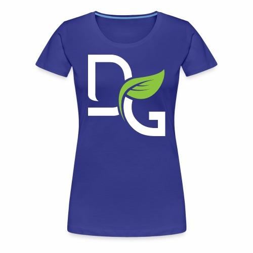 DrGreen Logo Symbol weiss grün - Frauen Premium T-Shirt