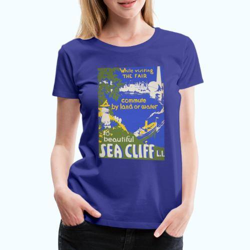 Lake travel vintage poster - Women's Premium T-Shirt