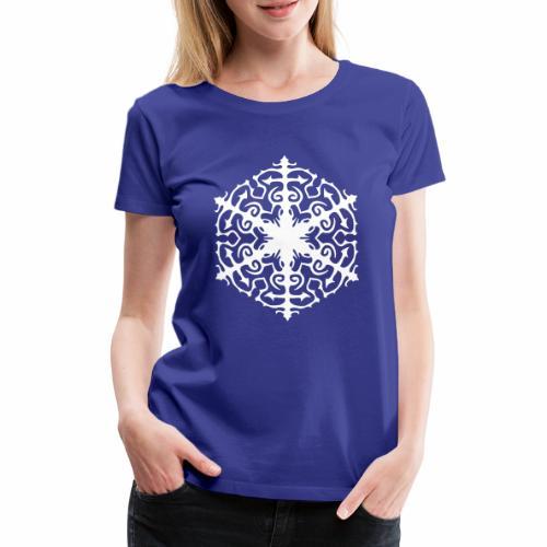 Schneeflocke Ornament Pixellamb - Frauen Premium T-Shirt