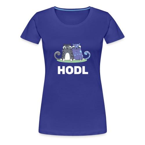 Kitty HODL white - Women's Premium T-Shirt