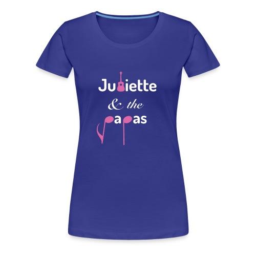 LOGO JATP ROSE BLANC - T-shirt Premium Femme
