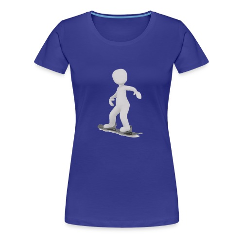 LULU FAIT DU SNOWBOARD - T-shirt Premium Femme