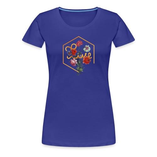 Typographie florale du mot Vivre en anglais - T-shirt Premium Femme