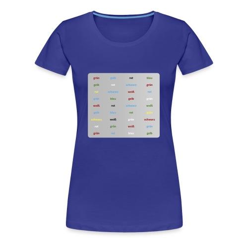 Stroop Test - Frauen Premium T-Shirt