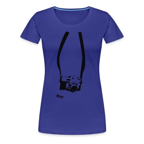 cámara retro - Camiseta premium mujer