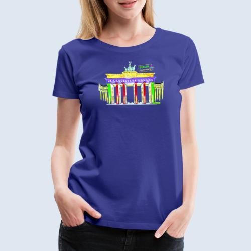 "Berliner ""Brandenburger Tor"" PopArt BLS Design - Frauen Premium T-Shirt"