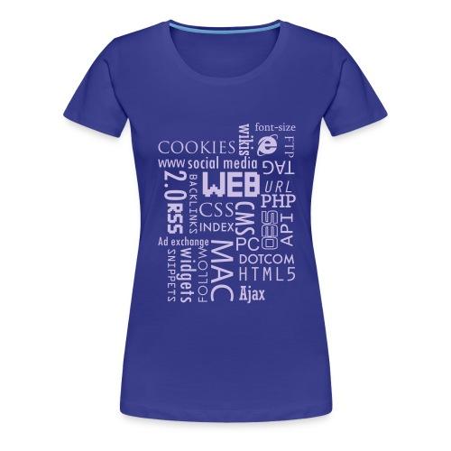 T shirt web - T-shirt Premium Femme