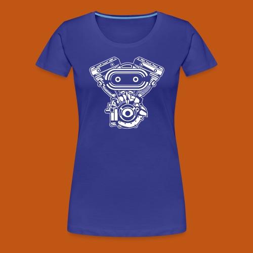Motorrad Motor / Engine 02_weiß - Frauen Premium T-Shirt
