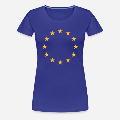europe stars - Dame premium T-shirt