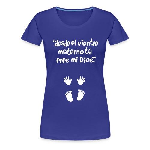 mano vec2 spread3 logo - Camiseta premium mujer