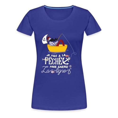 pêche pêcheur bateau barque poisson voilier ancre - T-shirt Premium Femme