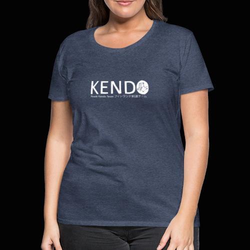 Finnish Kendo Team Text - Naisten premium t-paita