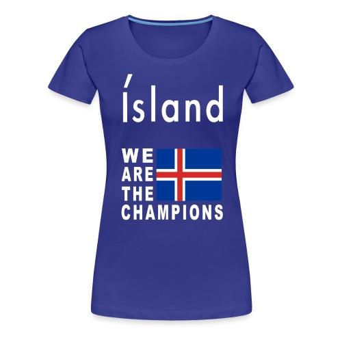Island Football Champion - Women's Premium T-Shirt