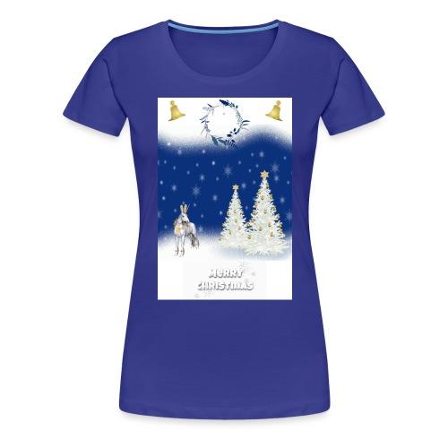 LICORNE BLANCHE NOËL MERRY CHRISTMAS - T-shirt Premium Femme