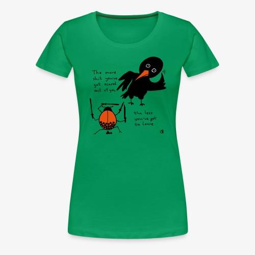 Bug and bird - Frauen Premium T-Shirt