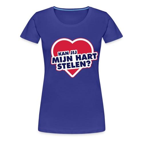 Kan jij mijn Hart stelen - Vrouwen Premium T-shirt