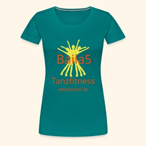 Baila5 Tanzfitness gelb - Frauen Premium T-Shirt