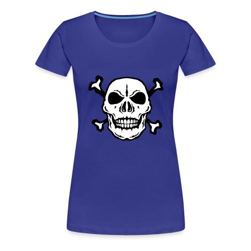 tete mort skull os dead 2706 - T-shirt Premium Femme