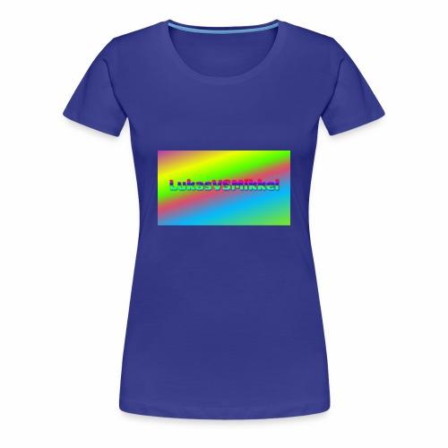 LukasVSMikkel Logo - Dame premium T-shirt