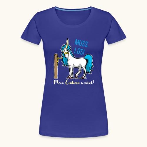 Dessin drôle de licorne disant bande dessinée cadeau - T-shirt Premium Femme