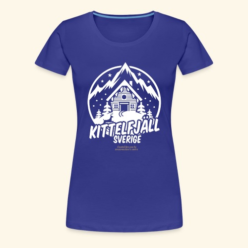 Kittelfjäll Ski Resort T Shirt Design - Frauen Premium T-Shirt