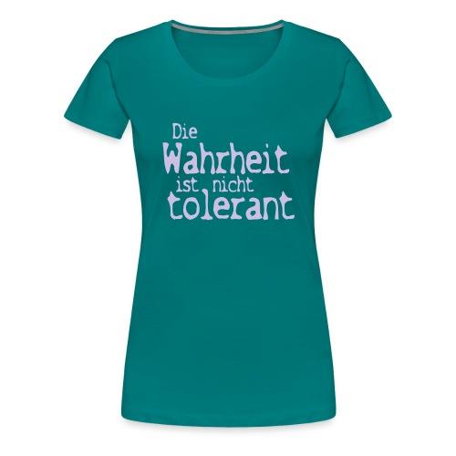 tolerant (JESUS-shirts) - Frauen Premium T-Shirt