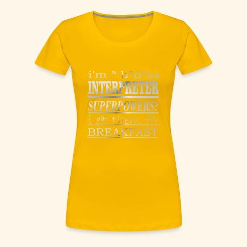INTERPRETER - Maglietta Premium da donna