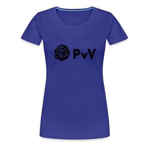 PvdA PvV zwart - Vrouwen Premium T-shirt