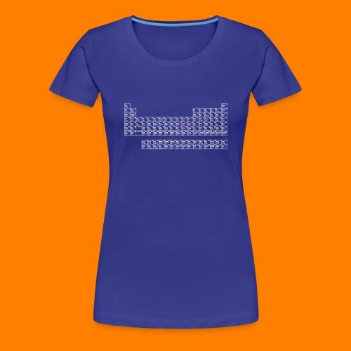 periodic white - Women's Premium T-Shirt