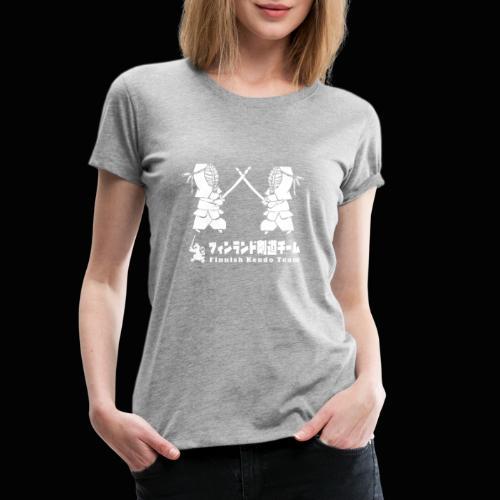 fka team logo white - Naisten premium t-paita