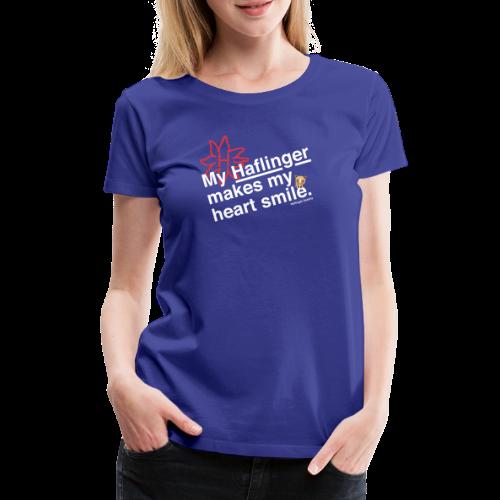 Haflinger Heart Smile - Blau - Frauen Premium T-Shirt