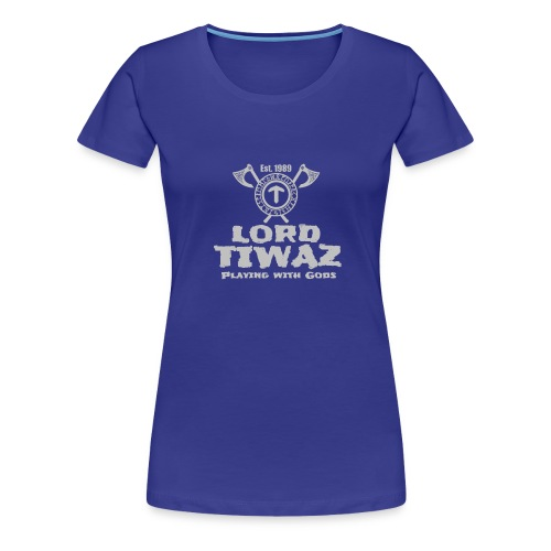 Lord Tiwaz Logo Gray - Women's Premium T-Shirt