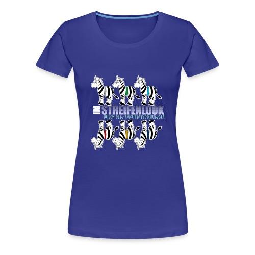 Streifenlook - Frauen Premium T-Shirt