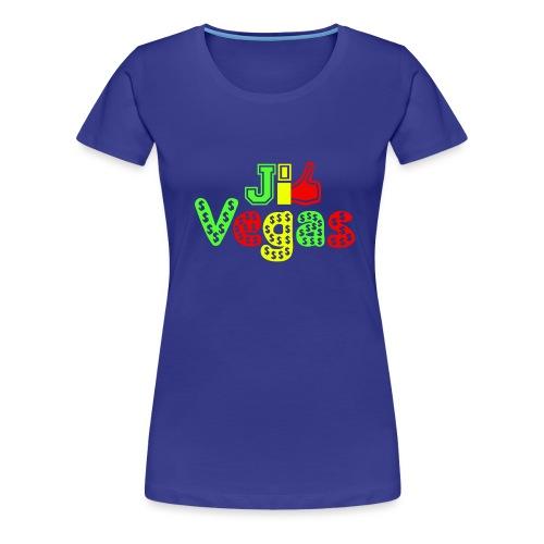 je LIKE Las Vegas heart beat pop art - Women's Premium T-Shirt