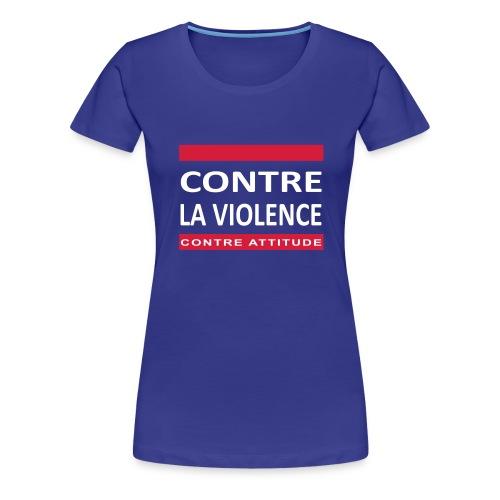 CONTRE LA VIOLENCE - T-shirt Premium Femme