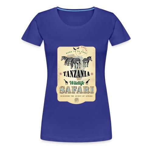 Zebras Wildlife Safari Tanzania Afrika Abenteuer - Women's Premium T-Shirt