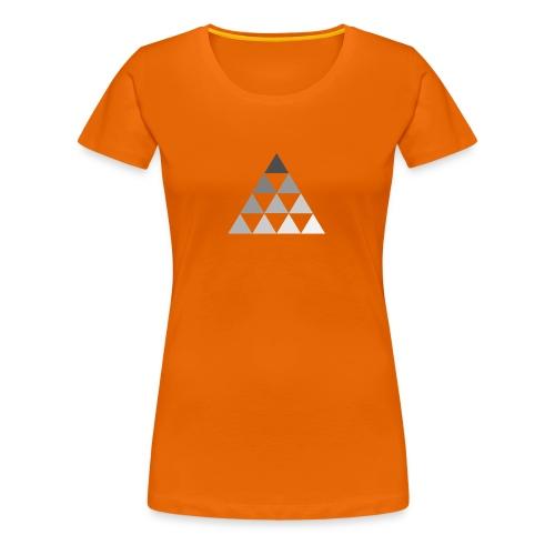 TRIANGLE FADE - Maglietta Premium da donna